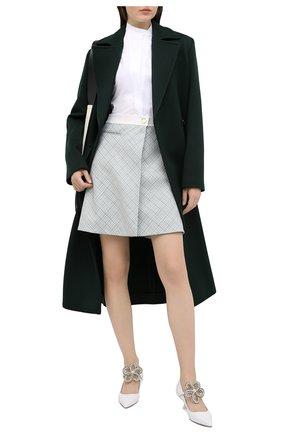 Женская шерстяная юбка LANVIN голубого цвета, арт. RW-ST433K-4763-H20 | Фото 2