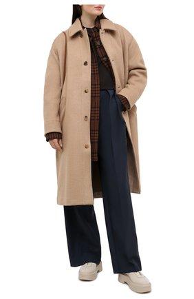 Женское шерстяное пальто TANAKA бежевого цвета, арт. ST-19   Фото 2