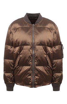 Женский пуховая куртка TANAKA светло-коричневого цвета, арт. ST-25 | Фото 1