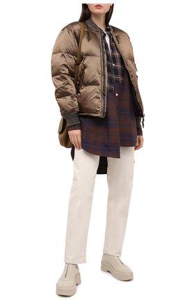 Женский пуховая куртка TANAKA светло-коричневого цвета, арт. ST-25 | Фото 2