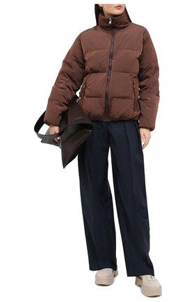 Женский пуховая куртка TANAKA коричневого цвета, арт. ST-42 | Фото 2