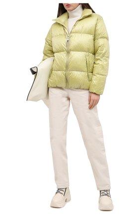 Женский пуховая куртка TANAKA желтого цвета, арт. ST-42 | Фото 2