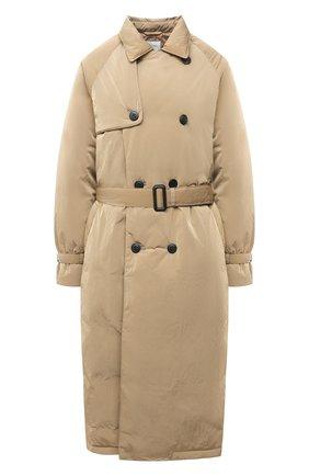Женский пуховое пальто TANAKA бежевого цвета, арт. ST-49D | Фото 1