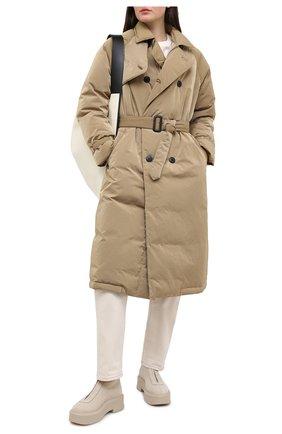 Женский пуховое пальто TANAKA бежевого цвета, арт. ST-49D | Фото 2