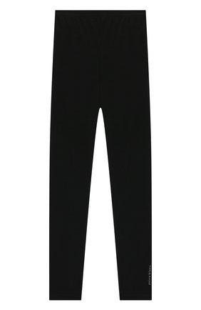 Детские шерстяные леггинсы POIVRE BLANC черного цвета, арт. 279599   Фото 1