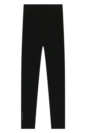 Детские шерстяные леггинсы POIVRE BLANC черного цвета, арт. 279599   Фото 2