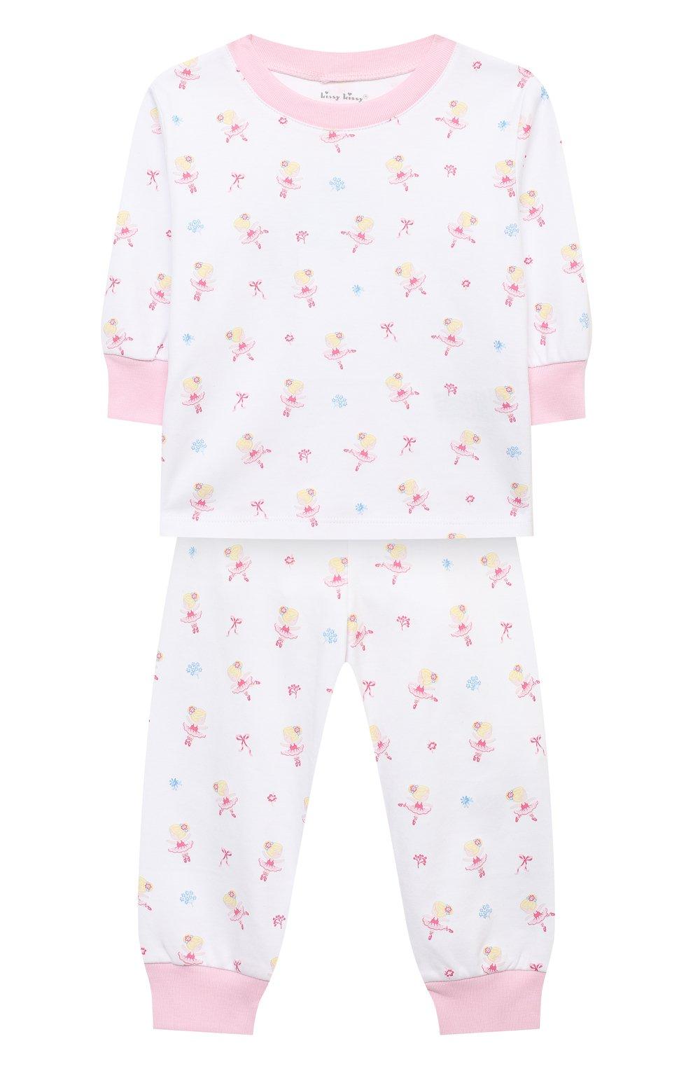 Детский хлопковая пижама KISSY KISSY розового цвета, арт. KG604831I   Фото 1