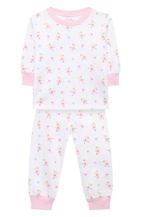 Детский хлопковая пижама KISSY KISSY розового цвета, арт. KG604831I | Фото 1