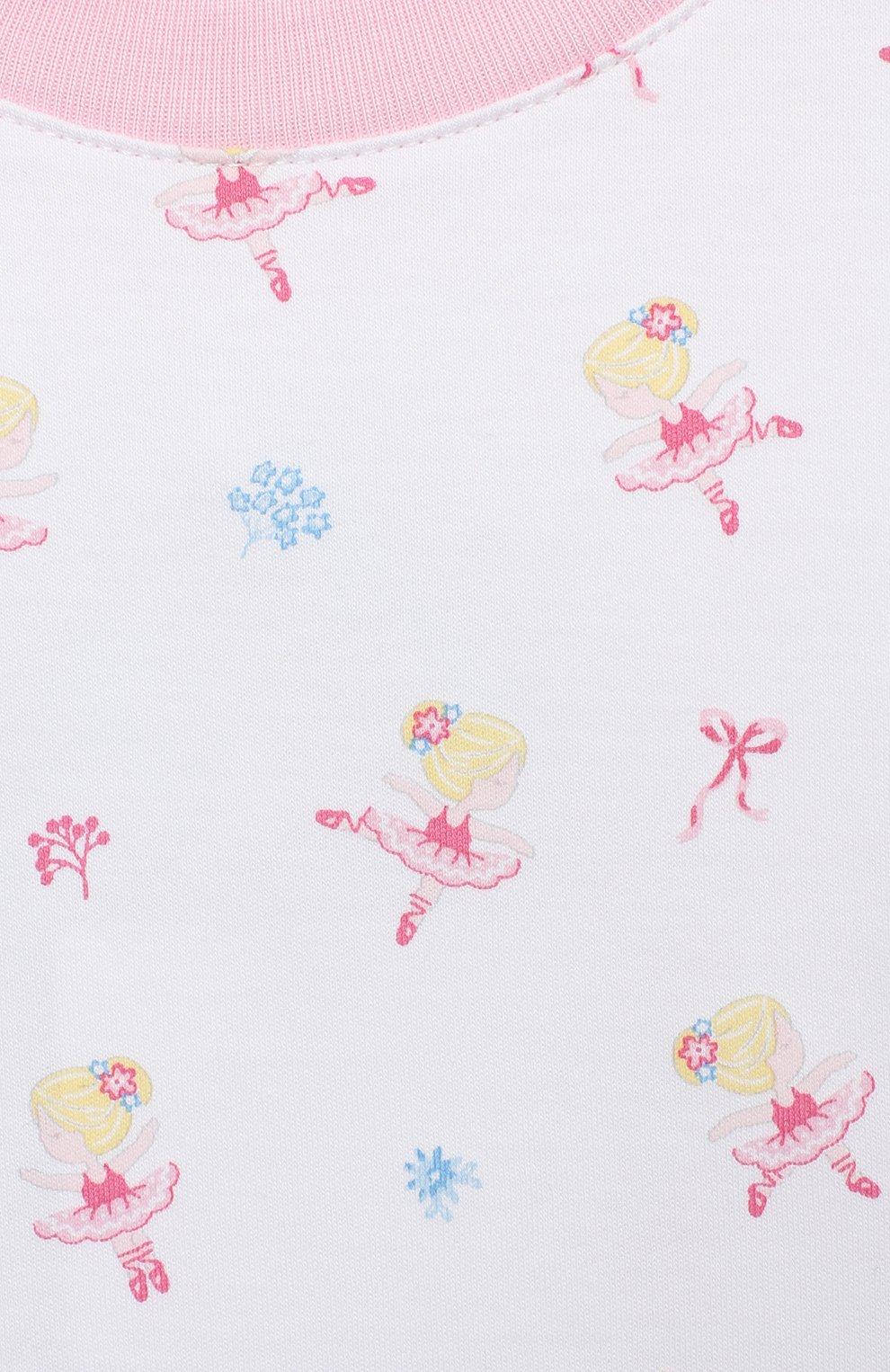 Детский хлопковая пижама KISSY KISSY розового цвета, арт. KG604831I   Фото 6