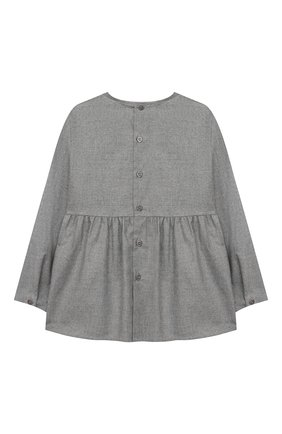 Детское хлопковая блузка IL GUFO серого цвета, арт. A20CL187C0051/5A-8A | Фото 2