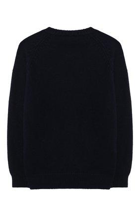 Детский шерстяной пуловер IL GUFO синего цвета, арт. A20MA334EM220/2A-4A | Фото 2