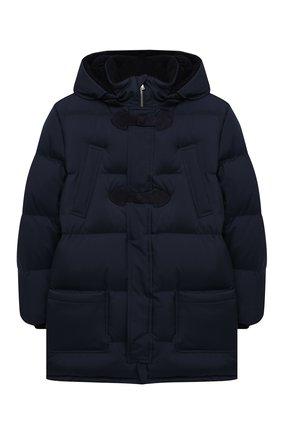 Детское пуховое пальто LORO PIANA темно-синего цвета, арт. FAL3754 | Фото 1