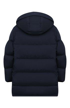 Детское пуховое пальто LORO PIANA темно-синего цвета, арт. FAL3754 | Фото 2