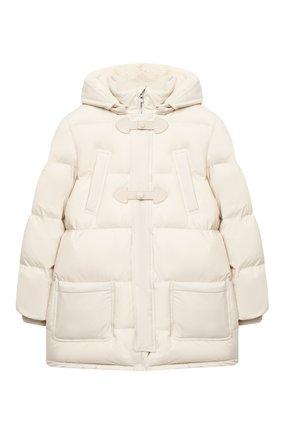 Детское пуховое пальто LORO PIANA светло-бежевого цвета, арт. FAL3754 | Фото 1