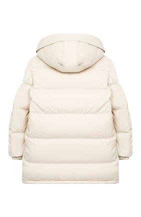 Детское пуховое пальто LORO PIANA светло-бежевого цвета, арт. FAL3754 | Фото 2