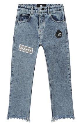 Детские джинсы NATASHA ZINKO голубого цвета, арт. FW20DU0305-87/10-14   Фото 1