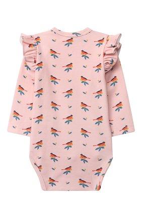 Детское хлопковое боди LES LUTINS PARIS розового цвета, арт. 20H525/B0DY 20H22 | Фото 2