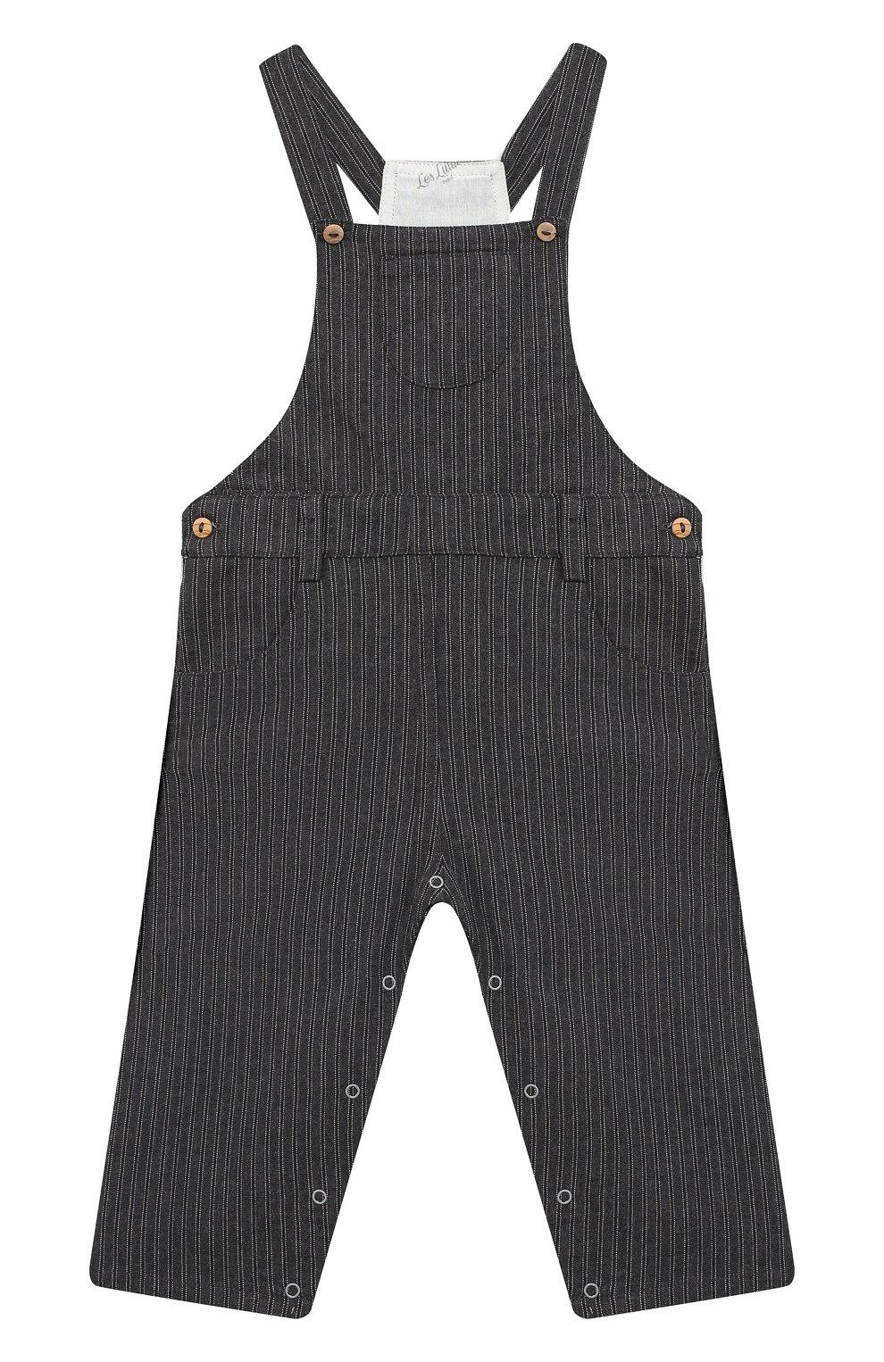 Детский хлопковый комбинезон LES LUTINS PARIS темно-серого цвета, арт. 20H354/JULIEN   Фото 1
