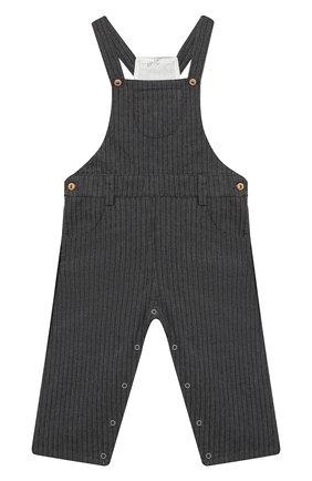 Детский хлопковый комбинезон LES LUTINS PARIS темно-серого цвета, арт. 20H354/JULIEN | Фото 1