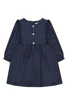 Женский хлопковое платье LES LUTINS PARIS темно-синего цвета, арт. 20H351/ELISA | Фото 1