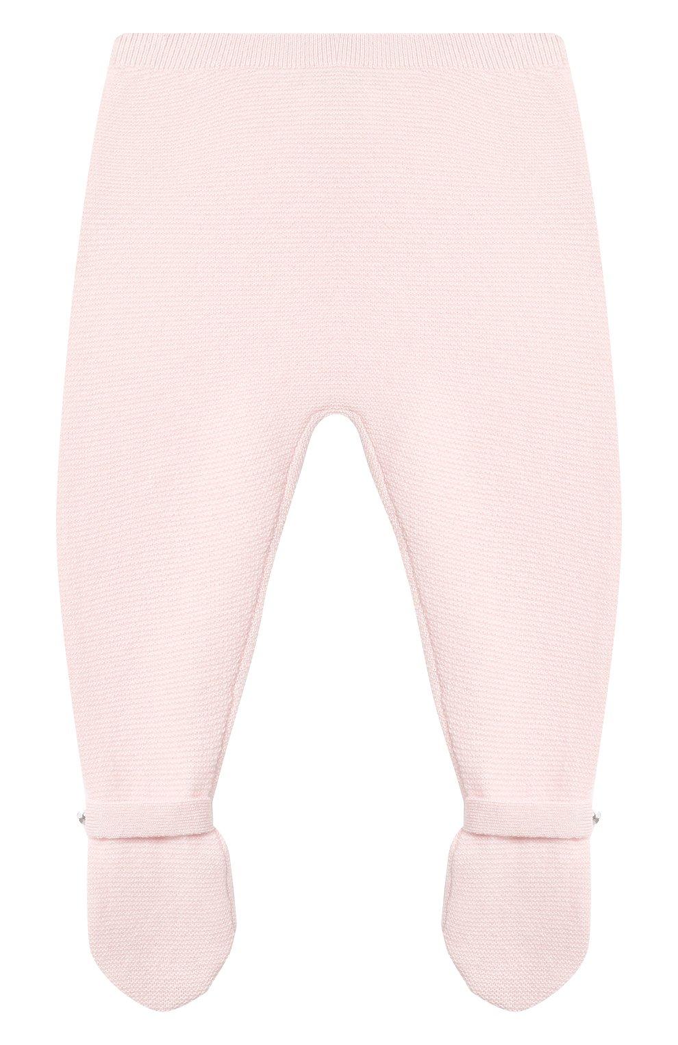 Детские кашемировые ползунки LES LUTINS PARIS светло-розового цвета, арт. 20H051/CESAR   Фото 1