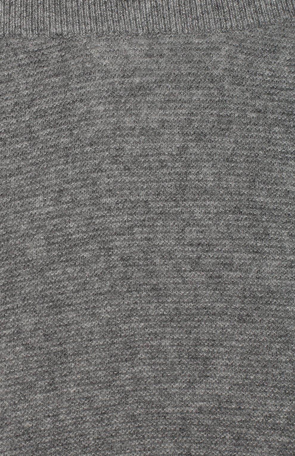 Детские кашемировые ползунки LES LUTINS PARIS серого цвета, арт. 20H051/CESAR   Фото 3 (Материал внешний: Шерсть; Ростовка одежда: 9 мес   74 см, 3 мес   62 см, 6 мес   68 см)