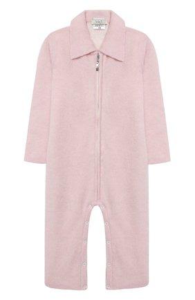 Детский кашемировый комбинезон BABY T розового цвета, арт. 20AIC881TZ/1M-12M | Фото 1