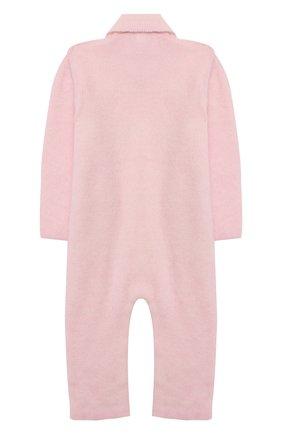 Детский кашемировый комбинезон BABY T розового цвета, арт. 20AIC881TZ/1M-12M | Фото 2