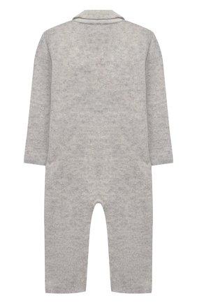 Детский кашемировый комбинезон BABY T серого цвета, арт. 20AIC881TZ/1M-12M | Фото 2