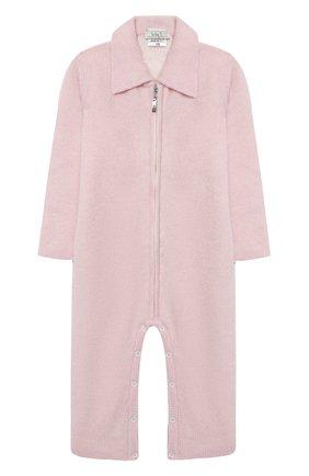 Детский кашемировый комбинезон BABY T розового цвета, арт. 20AIC881TZ/18M-3A | Фото 1