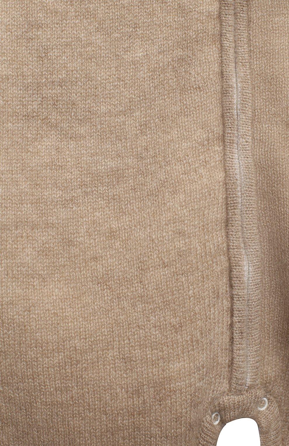 Детский кашемировый комбинезон BABY T бежевого цвета, арт. 20AIC881TZ/18M-3A   Фото 3