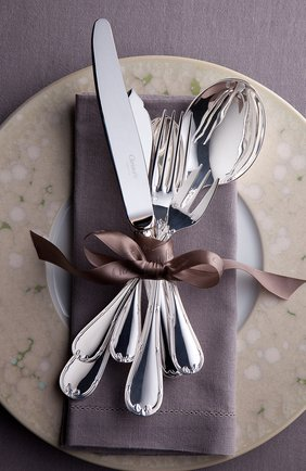 Вилка обеденная rubans CHRISTOFLE серебряного цвета, арт. 00024003 | Фото 2