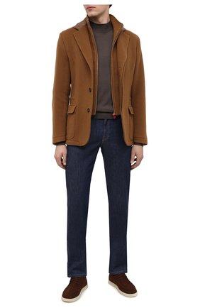 Мужская кашемировая куртка KITON коричневого цвета, арт. UW0770V03T74 | Фото 2 (Материал внешний: Шерсть; Материал подклада: Купро; Рукава: Длинные; Мужское Кросс-КТ: Верхняя одежда, шерсть и кашемир; Стили: Кэжуэл; Кросс-КТ: Куртка)
