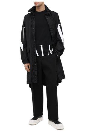 Мужская хлопковая футболка VALENTINO черно-белого цвета, арт. UV3MG07D6M3   Фото 2