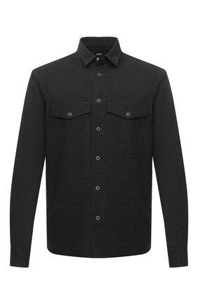 Мужская хлопковая рубашка BOSS темно-серого цвета, арт. 50438761 | Фото 1