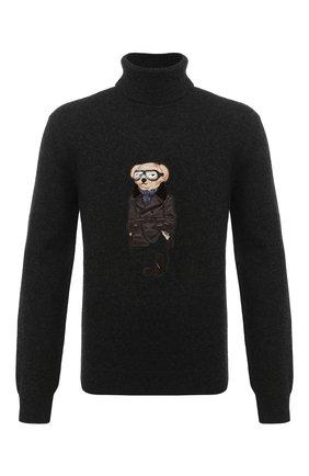 Мужской кашемировый свитер RALPH LAUREN темно-серого цвета, арт. 790812505 | Фото 1