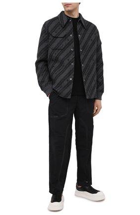 Мужская хлопковая футболка A-COLD-WALL* черного цвета, арт. ACWMTS001 | Фото 2