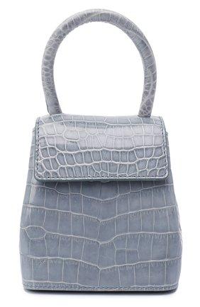 Женская сумка mini liza из кожи крокодила RUBEUS MILANO голубого цвета, арт. 014/18D/C | Фото 1