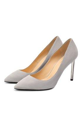 Женские замшевые туфли RUBEUS MILANO серого цвета, арт. RU7/2 | Фото 1