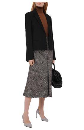 Женские замшевые туфли RUBEUS MILANO серого цвета, арт. RU7/2 | Фото 2