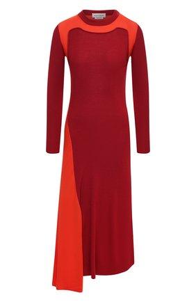 Женское шерстяное платье ALEXANDER MCQUEEN красного цвета, арт. 633700/Q1AQ0 | Фото 1