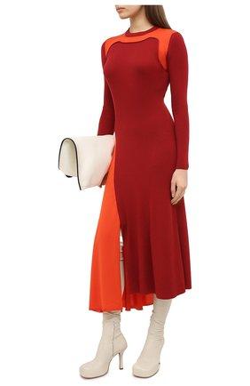Женское шерстяное платье ALEXANDER MCQUEEN красного цвета, арт. 633700/Q1AQ0 | Фото 2