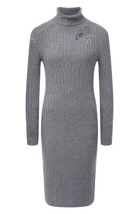 Женское шерстяное платье MAISON MARGIELA серого цвета, арт. S29CT0998/S17586   Фото 1