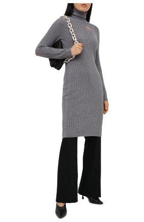 Женское шерстяное платье MAISON MARGIELA серого цвета, арт. S29CT0998/S17586   Фото 2