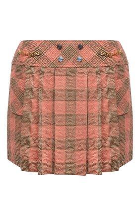 Женская шерстяная юбка GUCCI оранжевого цвета, арт. 633226/ZAFIB | Фото 1