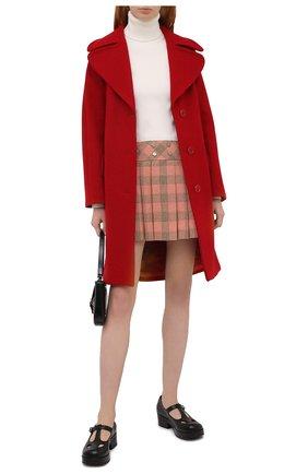 Женская шерстяная юбка GUCCI оранжевого цвета, арт. 633226/ZAFIB | Фото 2