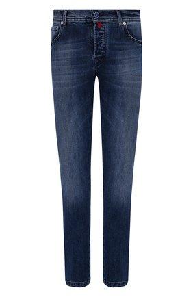 Мужские джинсы KITON темно-синего цвета, арт. UPNJS/J02T60 | Фото 1