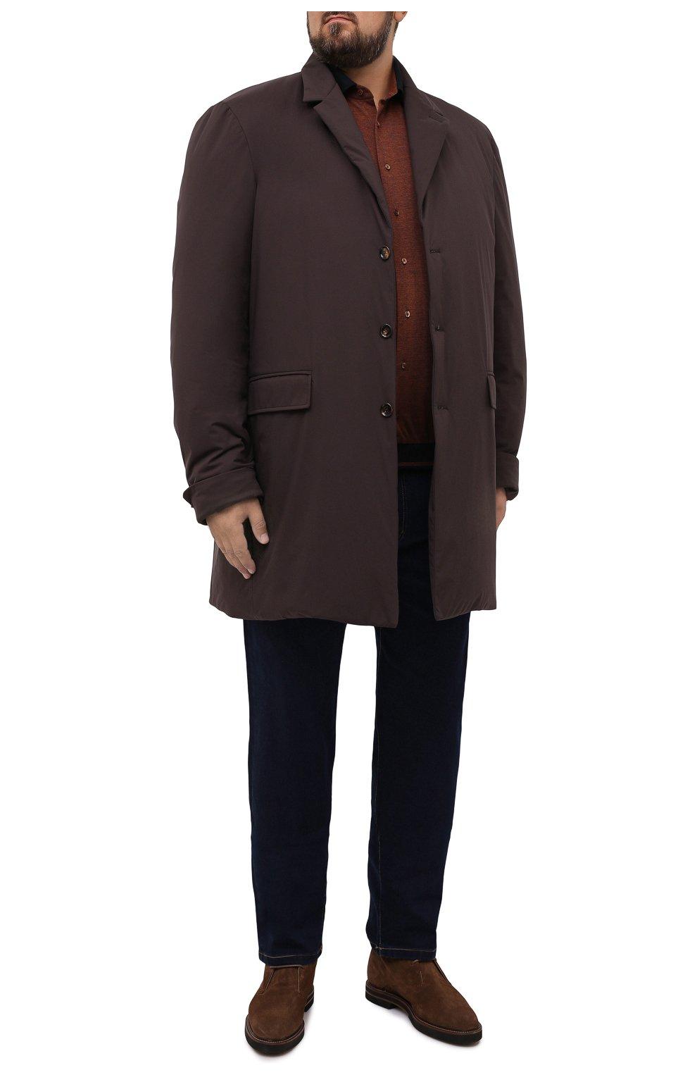 Мужской пуховый плащ KIRED коричневого цвета, арт. WPELM0LW6806527000/62-72 | Фото 2