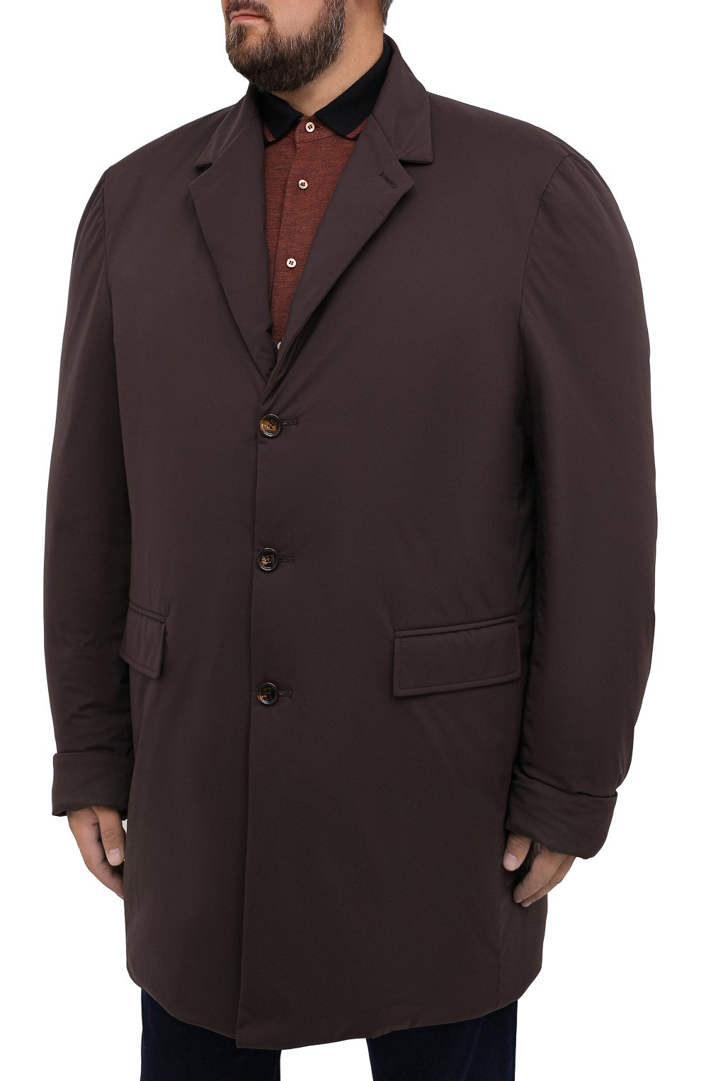 Мужской пуховый плащ KIRED коричневого цвета, арт. WPELM0LW6806527000/62-72 | Фото 3