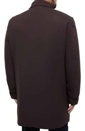 Мужской пуховый плащ KIRED коричневого цвета, арт. WPELM0LW6806527000/62-72 | Фото 4